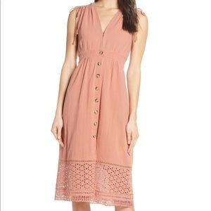 Hearloom Button Down A-Line Dress NWT